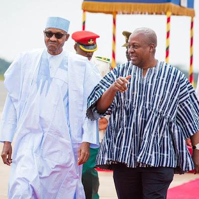 President Buhari and the Ghanaian President John Mahama2