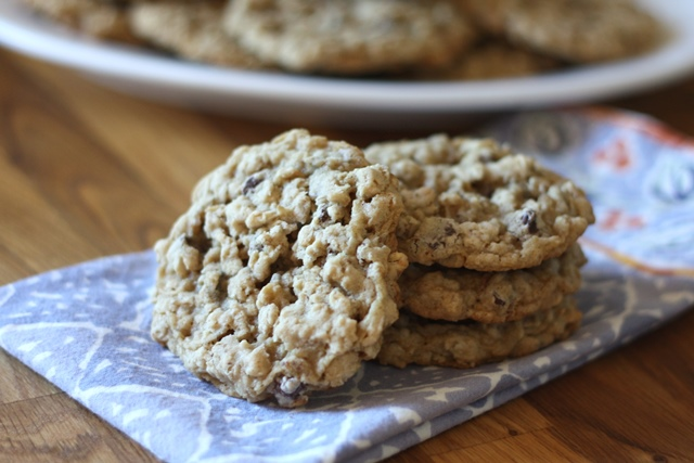 Barefeet In The Kitchen: Soft Chewy Oatmeal Chocolate Chip Cookies ...
