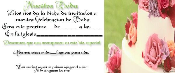 Matrimonio En La Biblia Cristiana : Tarjeta de invitación para bodas cristiana dibujos