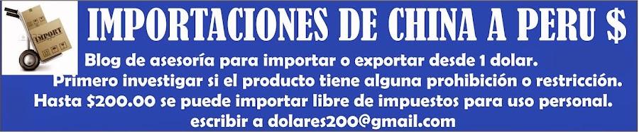 Importaciones de China a Perú