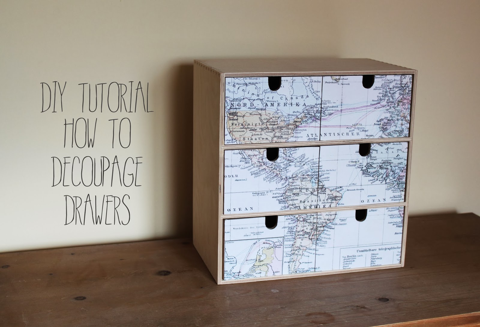 DIY Tutorial: How To Decoupage Drawers (Or Other Wooden Furniture!)