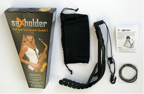 saXholder packaging with pouch, manual and extra string