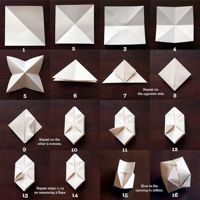 Diagramme guirlande lumineuse origami