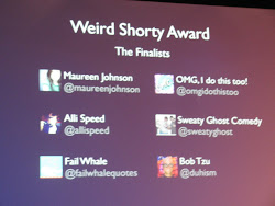 Sweaty Ghost a finalist at the Twitter Awards! 2011