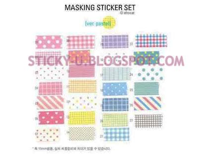 005: Katie's Fabric Print Sticker (Refill)