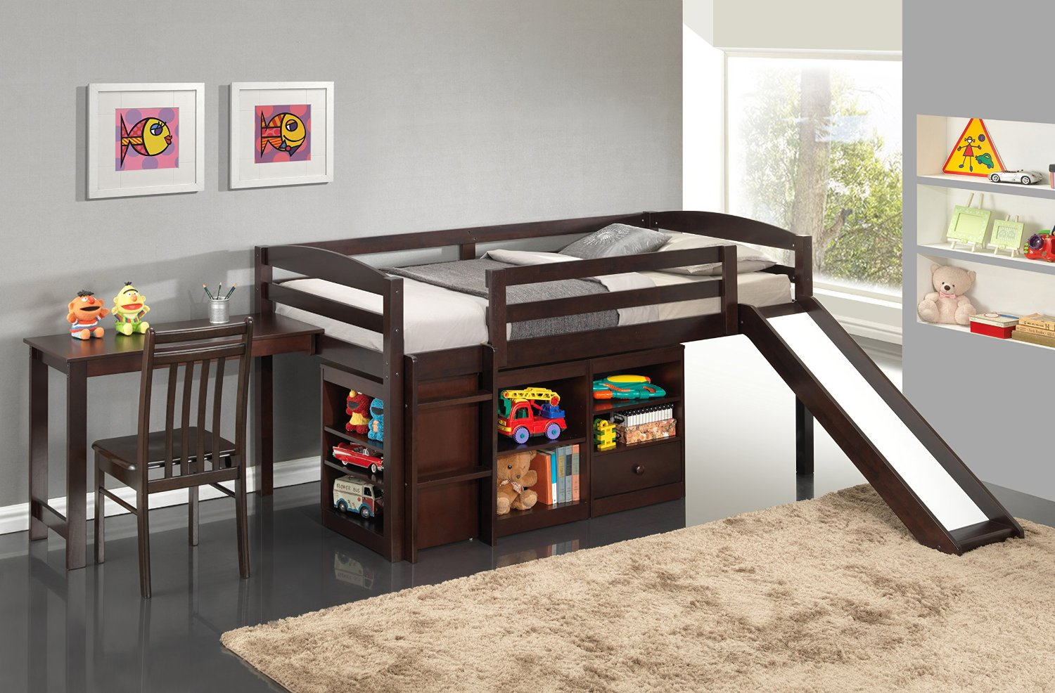 Junior Loft Bed With Slide Walmart