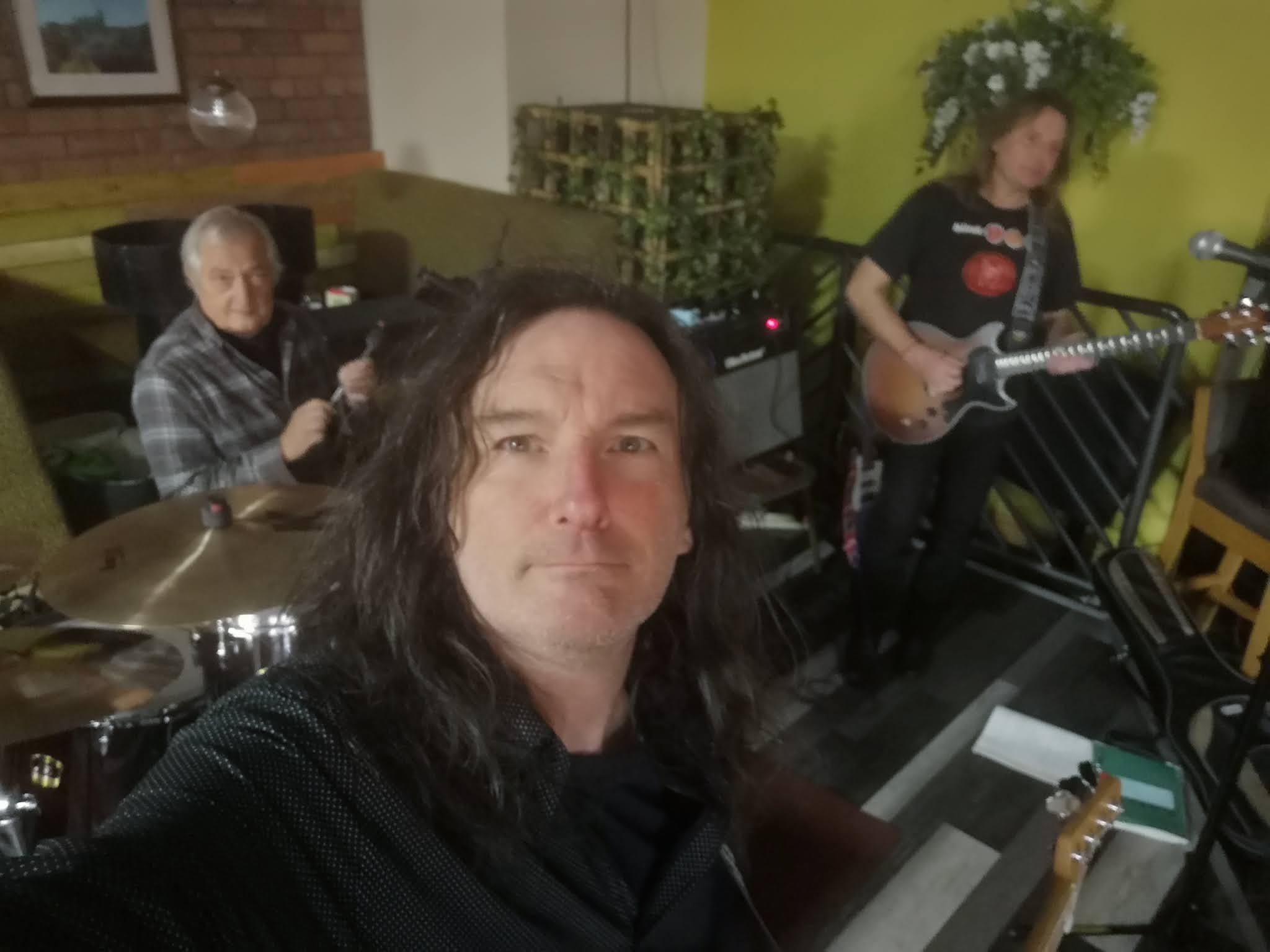 The Three in rehearsal.