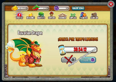imagen de la oferta del dragon bavaro de dragon city