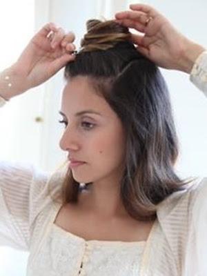 Peinados recogidos ondas sueltas