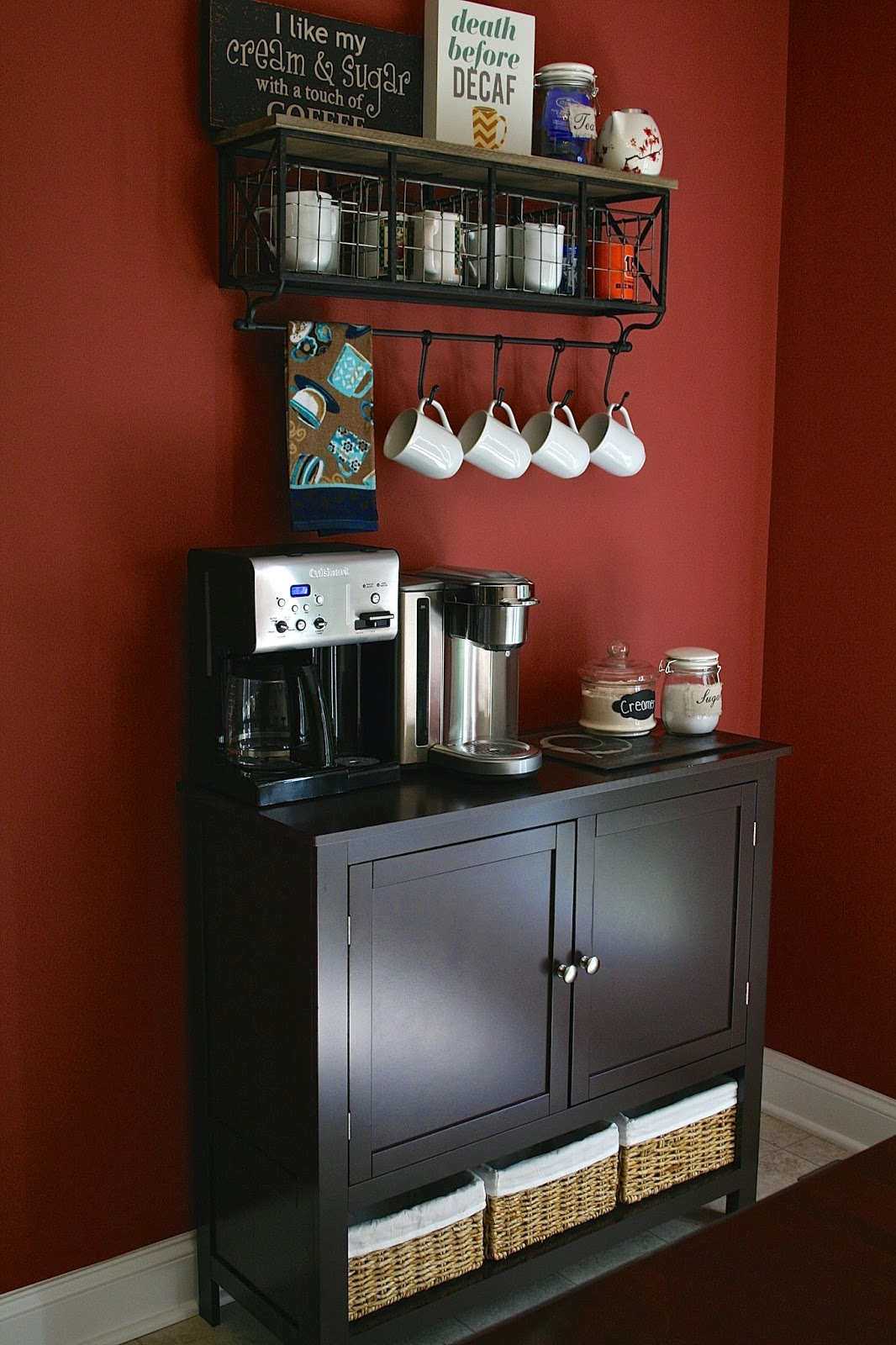 Oregon transplant home decor coffee bar for Coffee bar design ideas