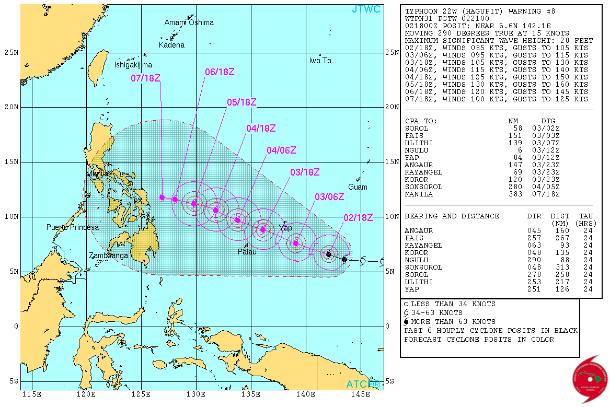 Alerts máxima en Filipinas por Super tifón Hagupit 4 de Diciembre 2014