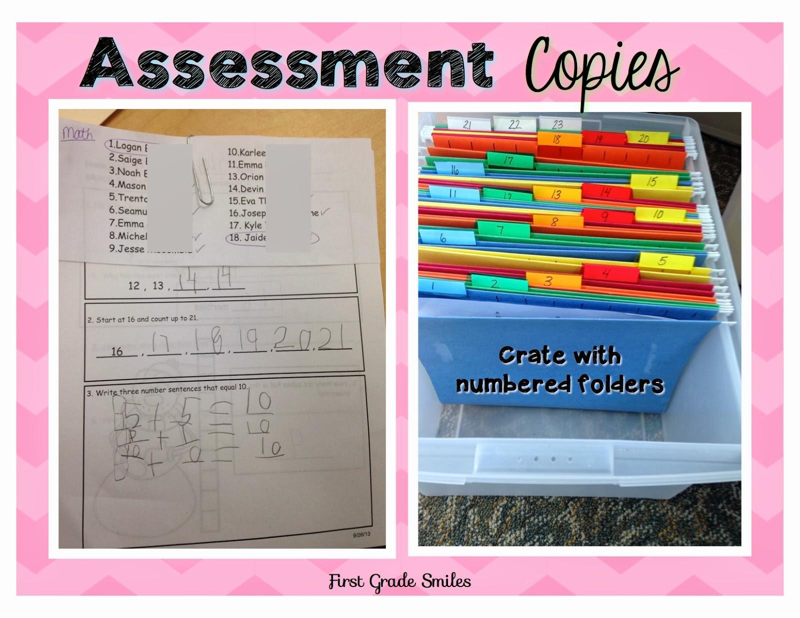 Classroom Organization Ideas First Grade ~ Organizing student data