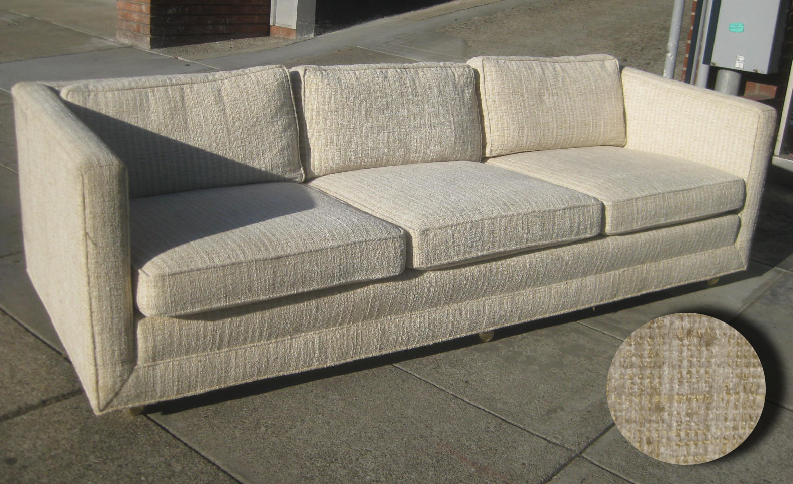 Sold Low Profile Boxy Sofa 160