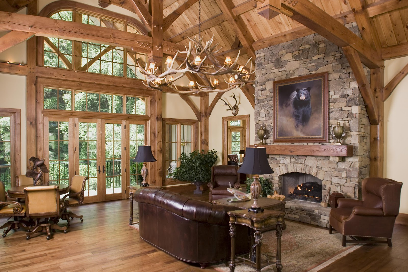 Timber frame life for Timber frame home interiors