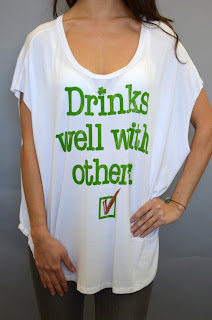 drinks well with others saint patrick's day t-shirt