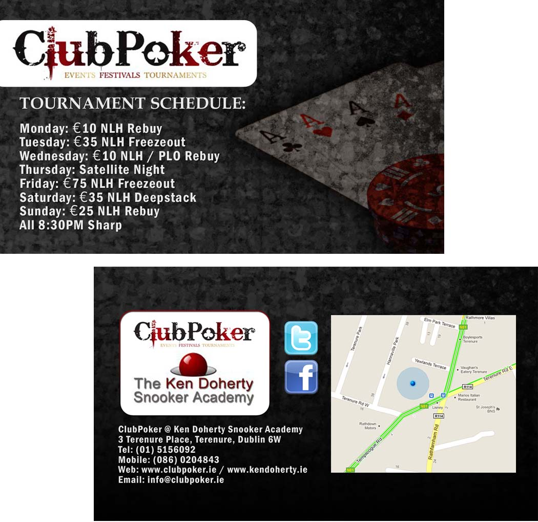 GraphFreak Club Poker business card size flyer