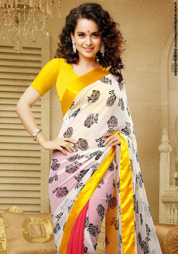 kangana ranaut in beautiful saree hd wallpapers actress kangana ranaut hd