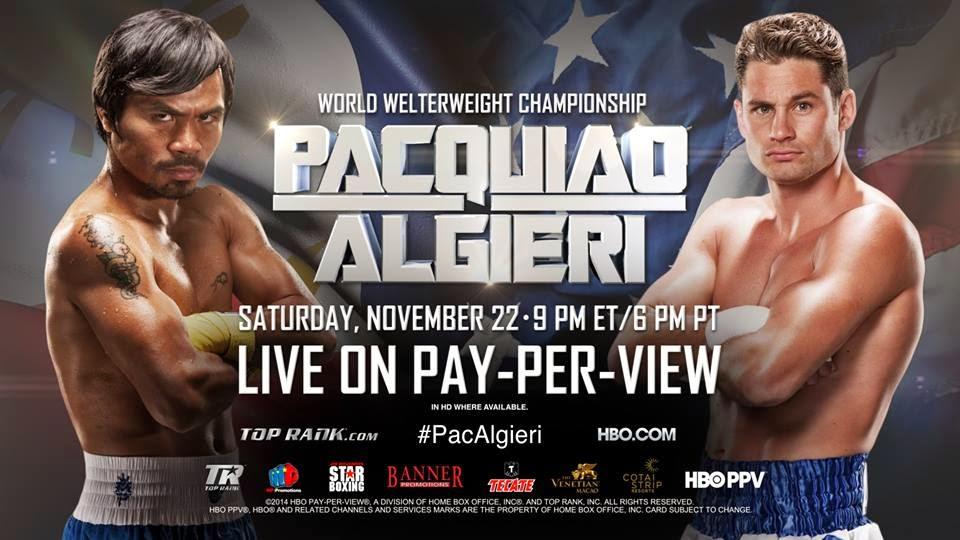 Pacquiao Algieri fight