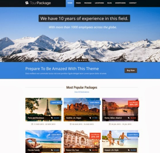 Tour Package - WordPress Travel and Tour Theme