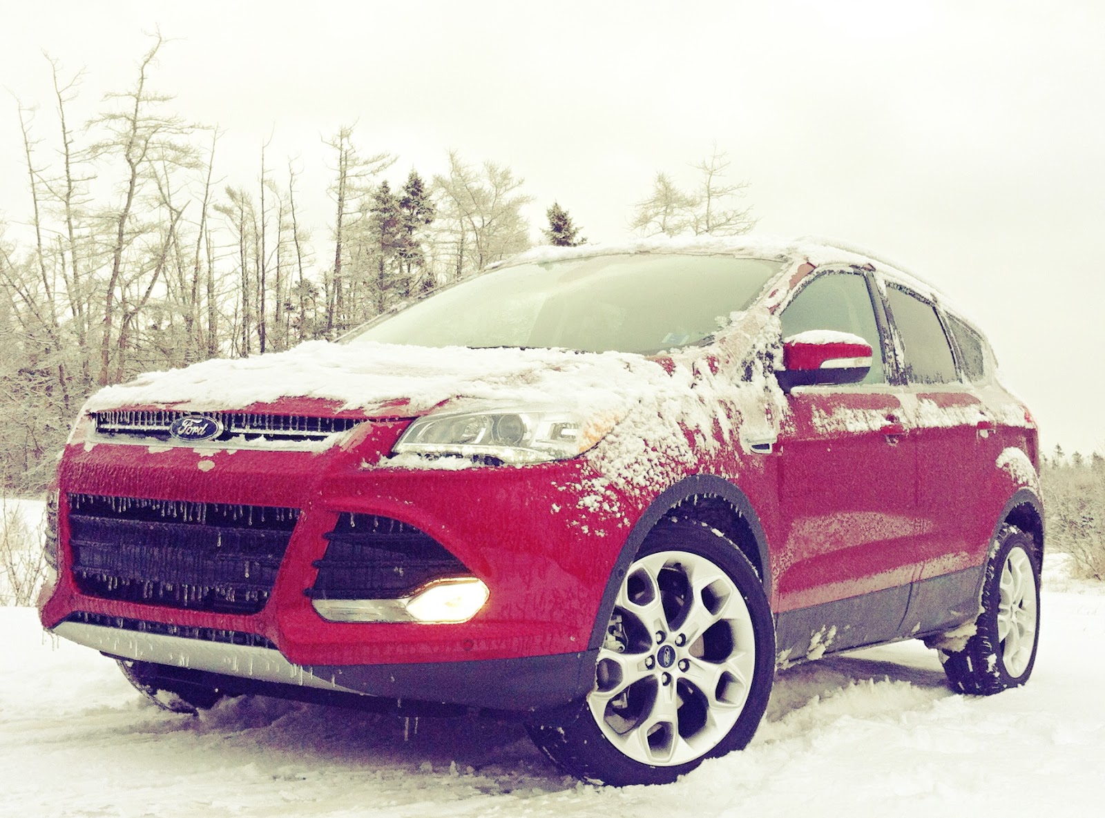 2015 Ford Escape Titanium AWD red front