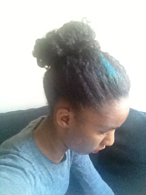 Your Africa Is Showing Messy High Bun W My Weave