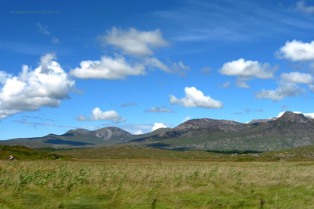 mountains, green landscape, Roundstone © Annie Japaud Photography
