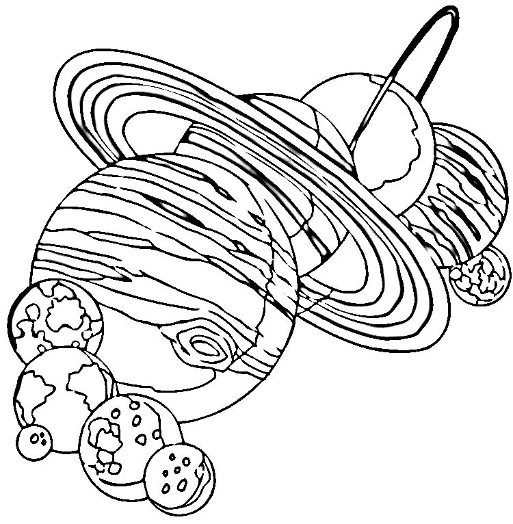 Space and Planets Coloring Pages For Kids