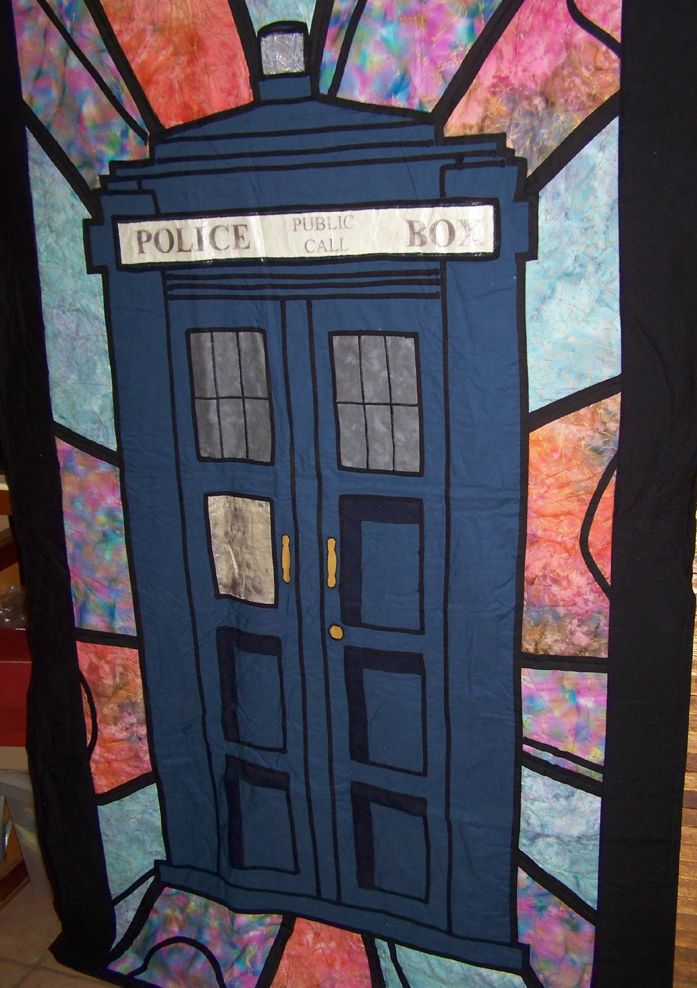 Sharlzndollz Craft Idea Tardis Quilt Inspired By Doctor Who