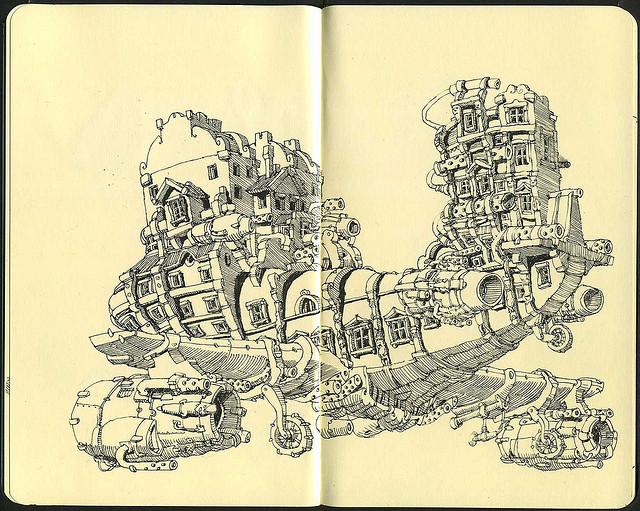 18-Moleskine-9-Concluded-Mattias-Adolfsson-Surreal-Architectural-Moleskine-Drawings-www-designstack-co