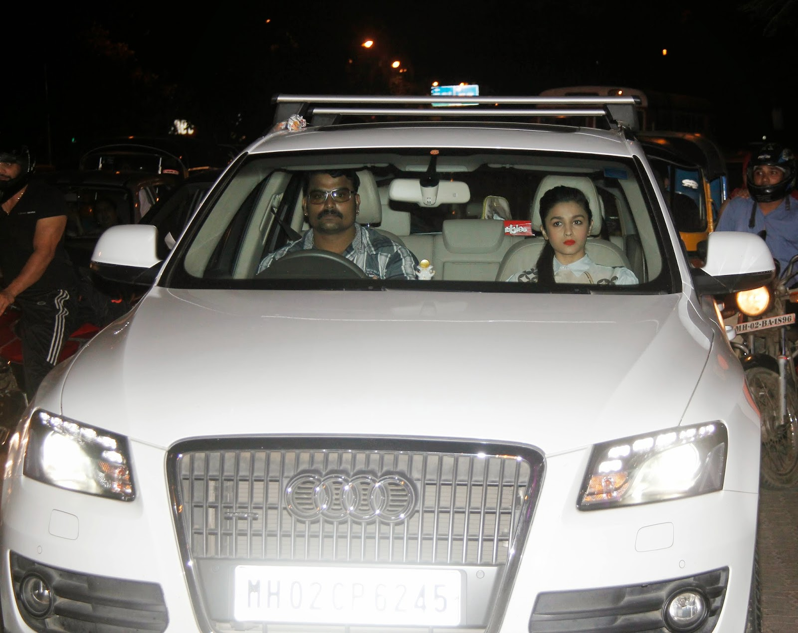 Alia Bhatt Snapped With Her Audi Car