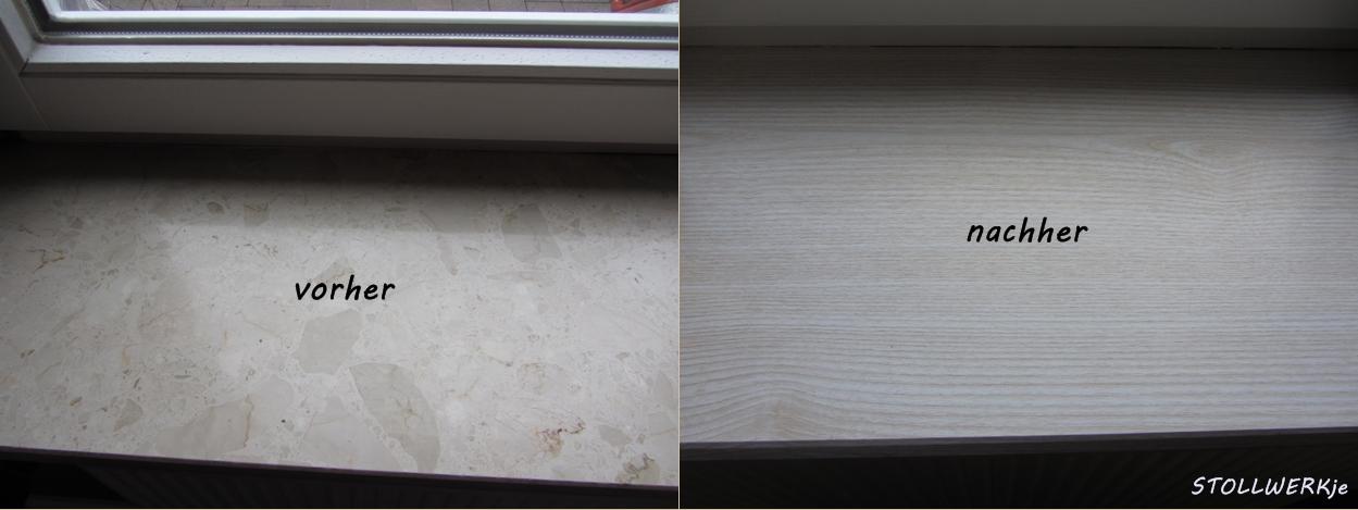kuchenschranke bekleben vorher nachher : Die Fensterb?nke aus Marmor habe ich mit d-c-fix? im Holzdekor ...