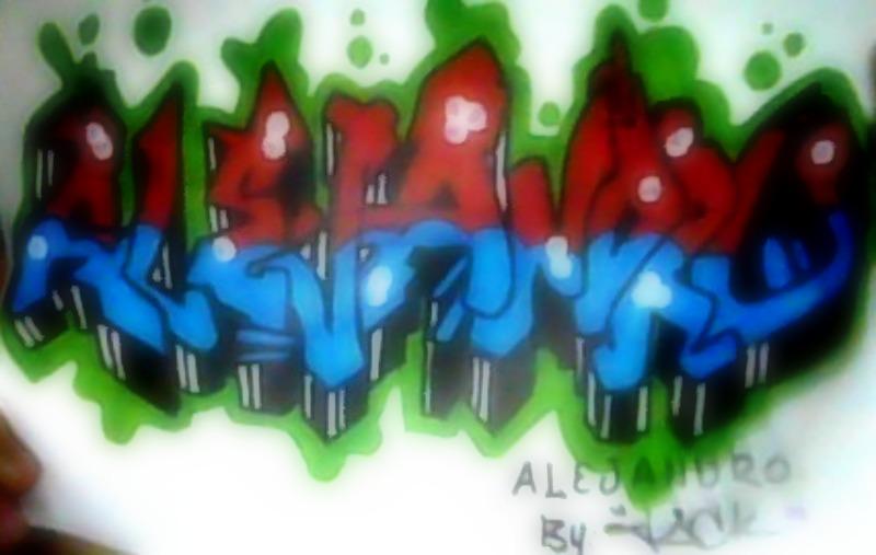 Nombre alejandro en graffiti - Imagui