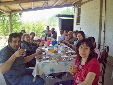 Visitantes en el Quincho