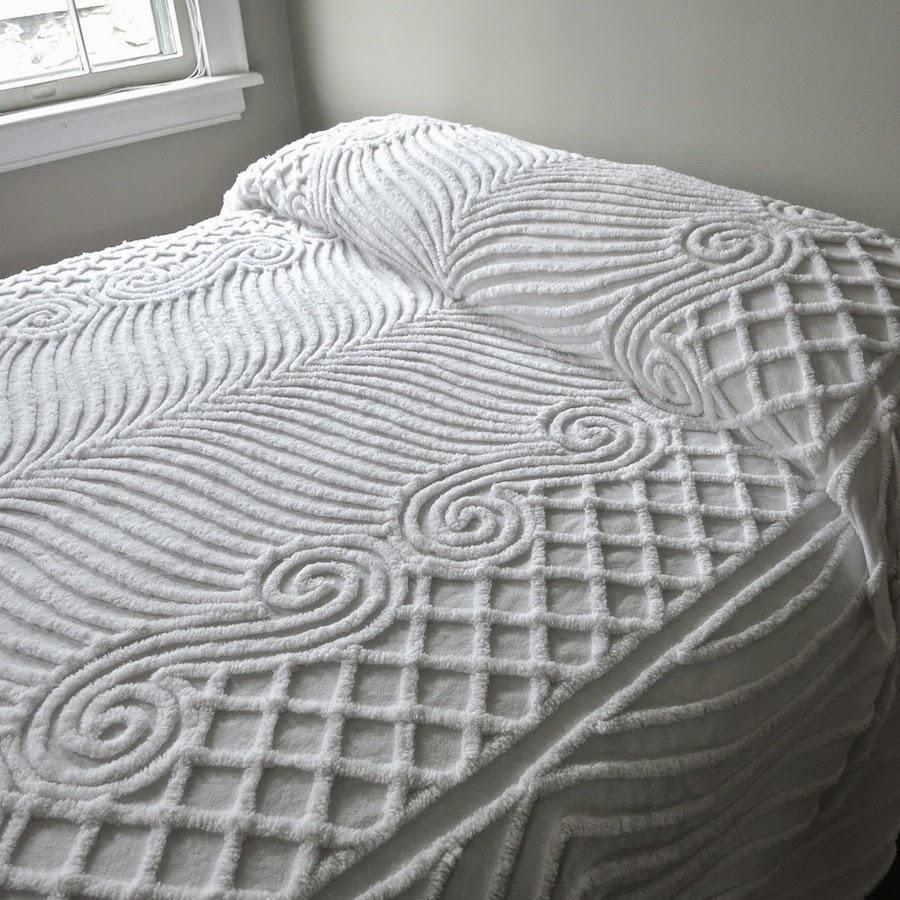 white chenille bedspreads vintage summer bedding - Chenille Bedspreads