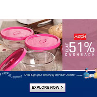 Paytm : Buy Milton productsand get At flat 20%off with Extra 50% Cashback:Buytoearn
