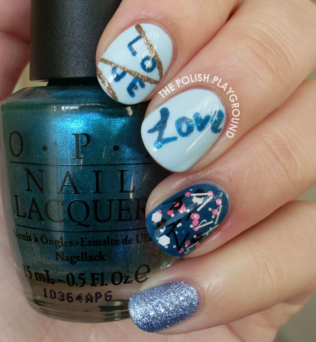 Love in the Air Nail Art