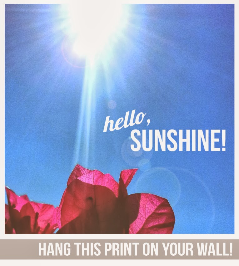 Hello, Sunshine Print by Isn't that Sew | Download for free www.isntthatsew.com