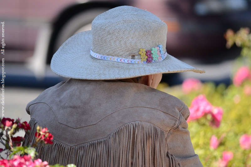 old lady hat floral fringe jacket photography photos