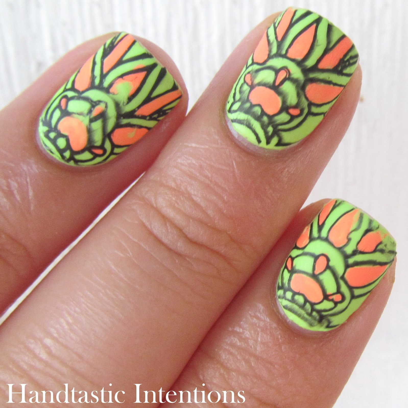 Advanced Nail Art: Handtastic Intentions: Neon Week Nail Art: Neon Advanced
