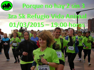 5k a beneficio del Refugio Vida Animal (Rambla de Montevideo, 01/mar/2015)