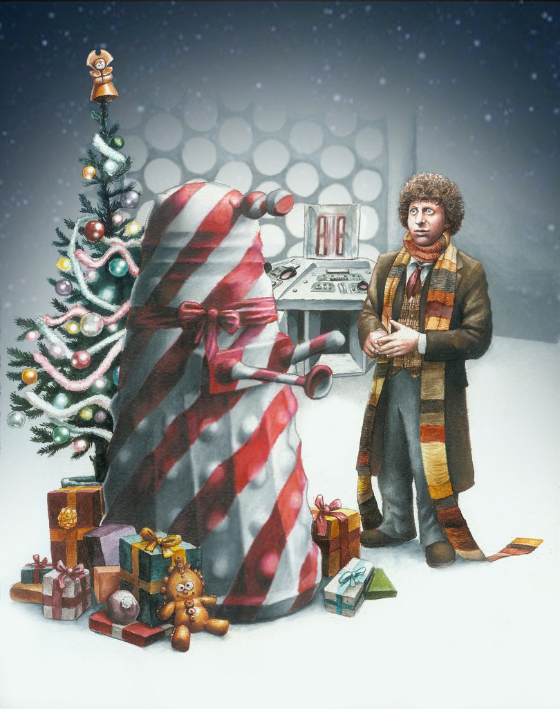 Daleks of the Day: Dalek Christmas Art