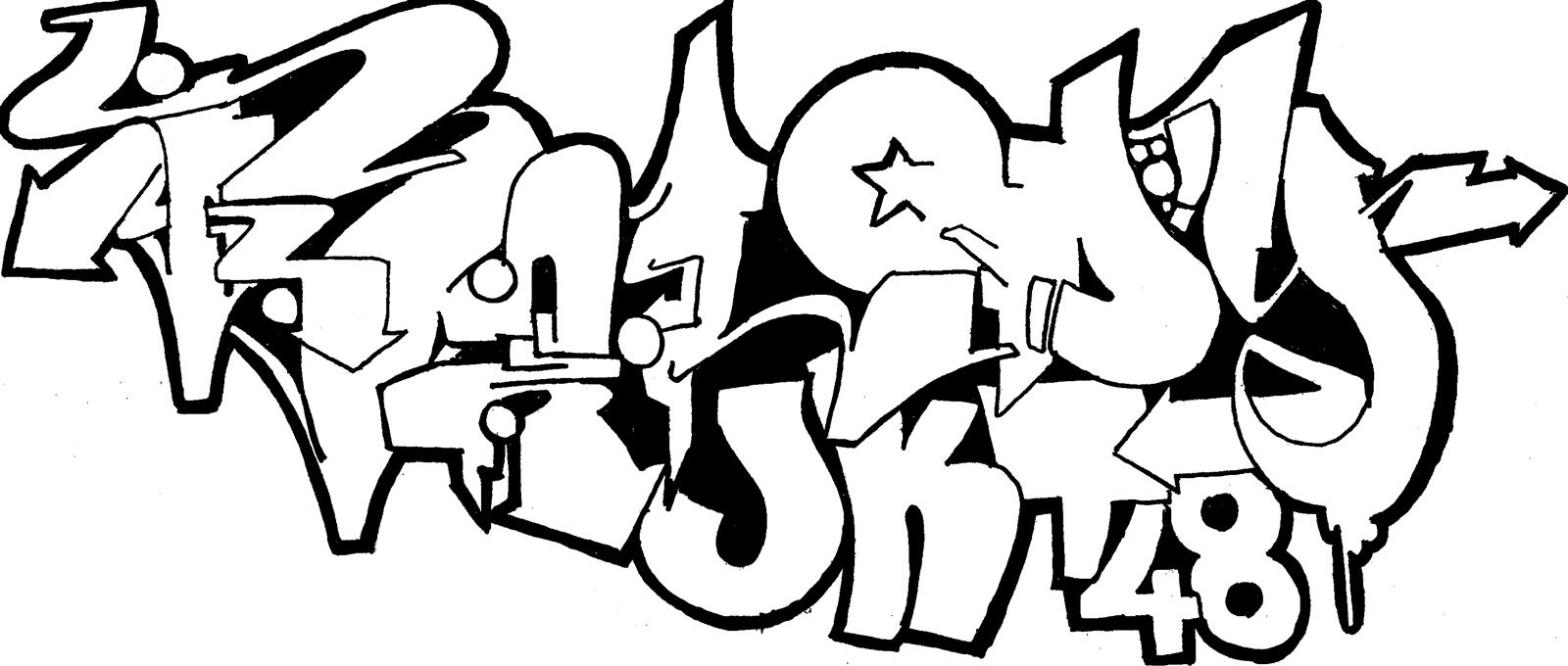 Yuk pacu kreatifitasmu dengan mewarnai sketsa graffiti ini Unduh resolusi besar gambar ini disini Thanks