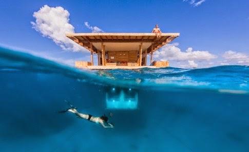 manta resort camera subacvatica