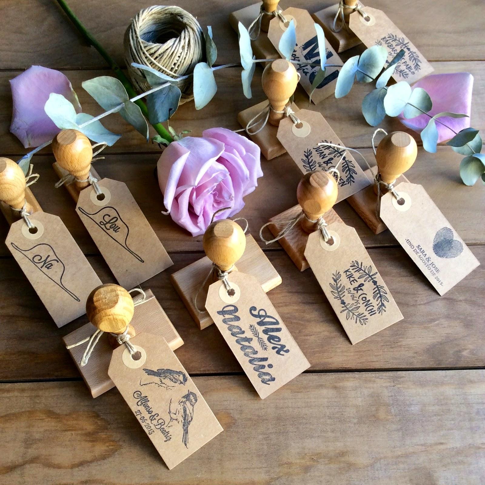 detalles de boda sellos personalizados