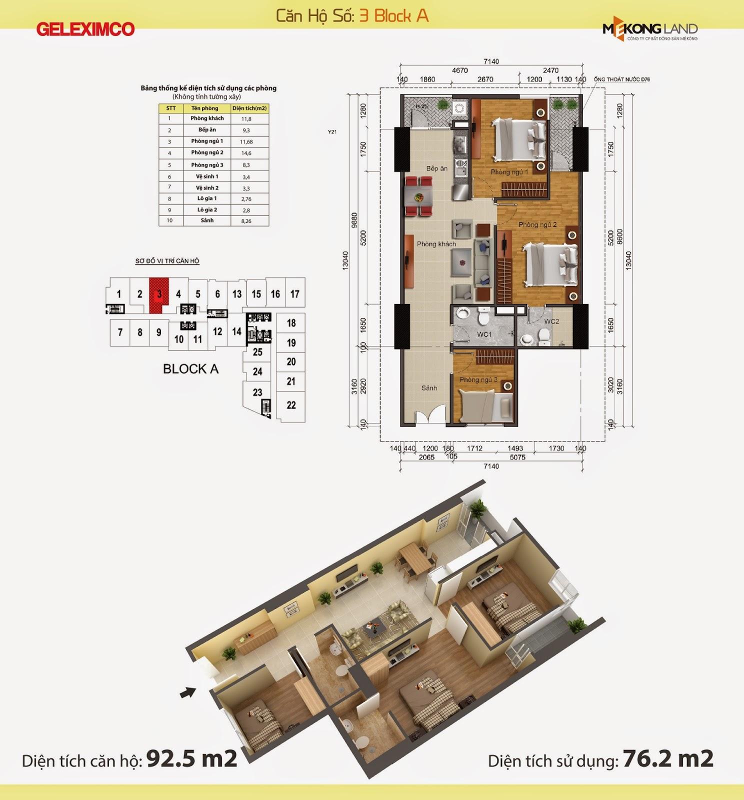 Thiết kế nội thất chung cư Gemek Tower 21