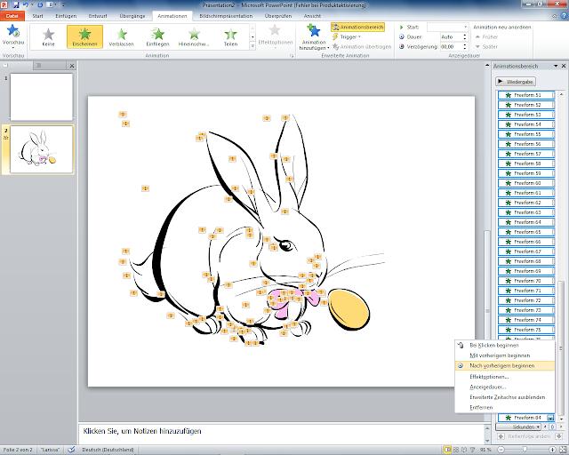 PowerPoint 2010 - Animationsbereich  Alle Bildteile animieren über unterste Schaltfläche