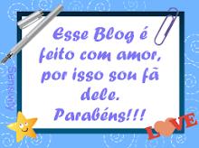 Selo este Blog é feito com amor
