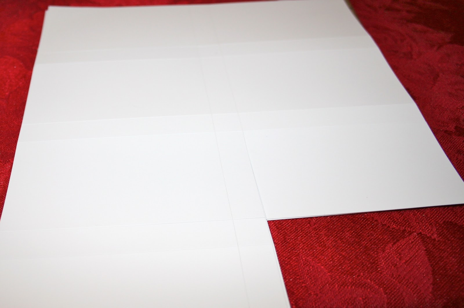 Holiday Place Settings Name Cards