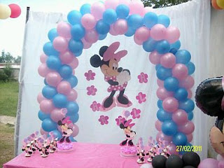 Fiestas Infantiles, Decoración Minnie Mouse