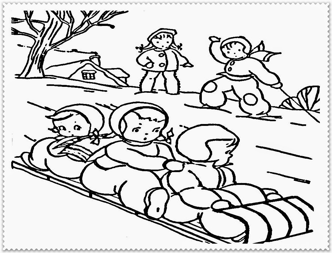 Winter Coloring Pages Realistic Coloring Pages Winter Time Coloring Pages